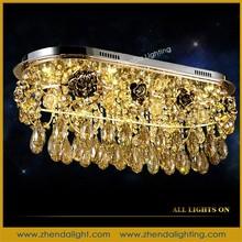 Rectangle modern style tasteful Crystal pendant chandelie Lamp& new brilliant led crystal pendant chandelier lights and lighting