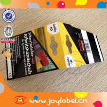 custom header card packaging printing of paper header card packaging