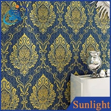 Vintage European Damascus wallpaper non-woven wallpaper interior decoration