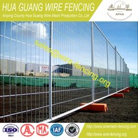 Hot dipped galvanized portable privacy fence