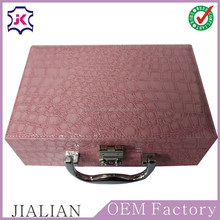 2016 Top Quality Eco-friendly Custom Printed leather Boxes for storage