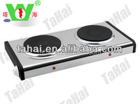 2000w double spiral solid electric hot plate with thermostat