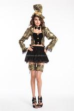 Ladies Mad Hatter Fancy Dress Up Tea Party Alice In Wonderland Hens Costume