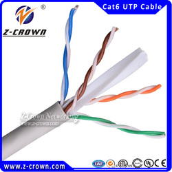 23AWG/4Pair Cat 6 UTP Bare Copper Cable