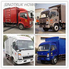 New generation China 5 ton dongfeng howo 4x2 mini van truck 180HP box truck doors