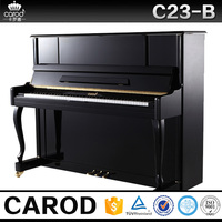 scottish new product black polish upright piano size with chair cover and chair
