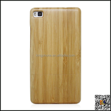 For Huawei P8 phone case, engrave logo wooden case for huawei bamboo cover