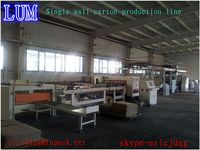single facer 2 ply,corrugated carton production line,paclaging machinery ce iso9001