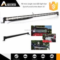 offroad LED light bar single row 90w, 4x4 led bar light 31 inch mini bar, truck led driving light 6500k CE cetification