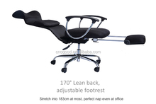 executive reclining office chairs adjustable lumbar support and footrest