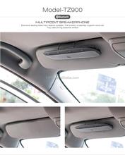 Bluetooth 3.0 handsfree car speaker wireless sun visor car stereo bluetooth handsfree car kit for iPhone 6 6s 6plus