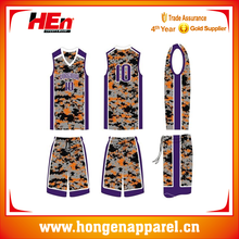 Hongen special jersey shirts design for basketball