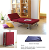 Rollaway portable folding sofa bed
