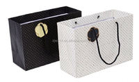 cream gift paper bags/ high-end kraft paper bag/ fashion leopard print paper bag