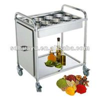 simple design competitive price food trolley cart for high sale