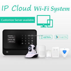 FDL-G90B wifi alarm system support IP camera, ,wifi Voice call&SMS alert cheap wireless gsm security system alarm