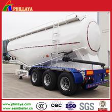 Phillaya V forma tri-axle massa cimento petroleiro reboque do caminhão de reboque para venda