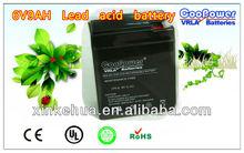Shen Zhen Lead acid battery Eemergency light battery/UPS Battery/6V9A