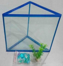 Gold fish triangle artificail glass aquarium kit