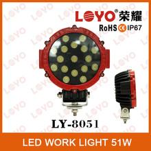 51W LED offroad light waterproof IP67 12 volt led lighting for boats