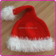 2015 new handmade baby crochet christmas santa hats for kids