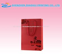lema rojo bolsa de papel personalizado