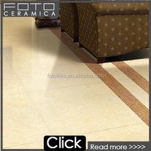 Yellow beige double charge loading polished porcelain living room floor tile porcelain 60 60
