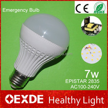 Home Essentials Made In China 5W/7W SMD 2835 Warm white/Cool white LED Emergency Bulbs Lights
