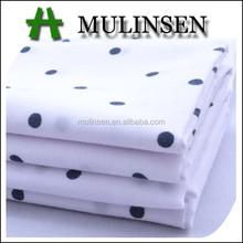 polka dot pattern in 2015 Mulinsen Woven poplin cotton baby fabric wholesale