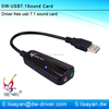 OEM virtual 7.1 channel usb surround sound card