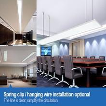 2000x450mm spring embeded hanging flat slim led panel light for conference hall
