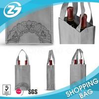 Foldable Non woven 2 Bottle Wine Tote Bag