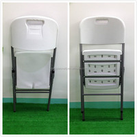 blow mould solid PE folding chair/graden camping BBQ chair/modern design simple structure white chairs for outdoor and indoor