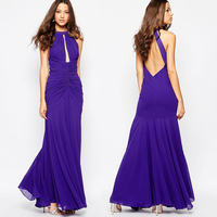 2016 latest popular drape dresses wholesales women wear's sexy maxi long evening dress
