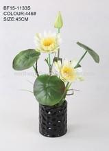 Real touch artificial flor de loto de la decoración del hogar