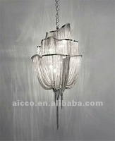 hot sell popular project alluminium chain ceiling pendant chandelier