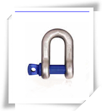 China suppliers rigging hardware alloy steel fastener D shackle with safety pin