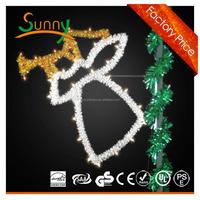 hot sale led wreath motif street motif light led commercial christmas street light