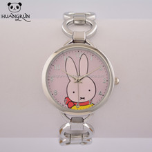 Latest fancy cute rabbit dial bracelet wrist young boy and young girls watches
