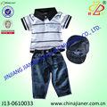 Nuevo producto 100% de algodón de moda al por mayor ropa del bebé juegos de china