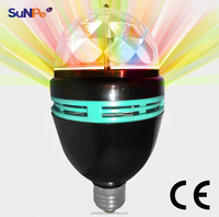 New Black Led Rotational Multi Colored Party Light Home Party Disco Lighting