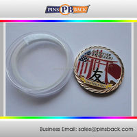 """1.5""""Die casting coin with soft enamel color-round Japan friendship logo coin"""