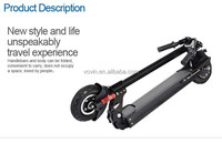Two wheel smart balance electric scooter with 350W brushless motor and 411WH battery