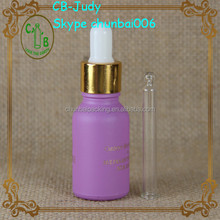 For female beauty 15ml frosted glass dropper bottle for essential oil,e liquid