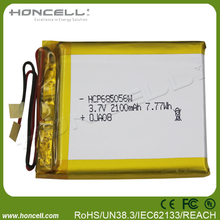 685056W 2100mah polymer battery 2500mah rechargeable 3.6v lithium ion battery