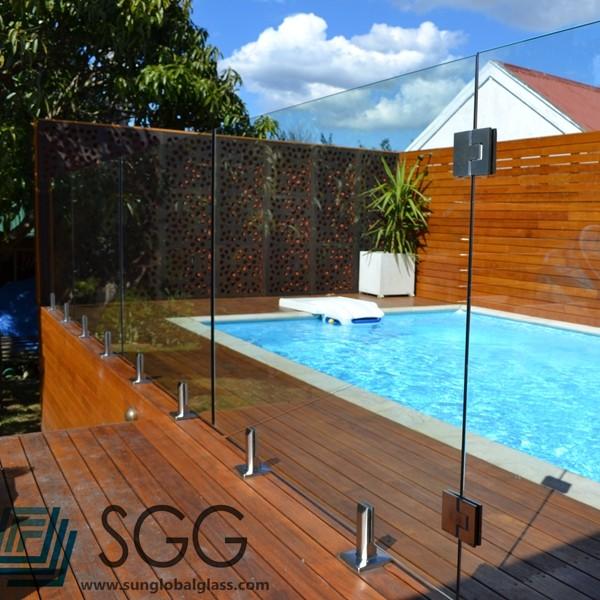 Top qualit commerciale mat riaux de construction en verre for Clotures de piscine en verre