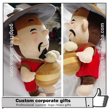 Custom Cartoon The Old Plush Toys Fabric