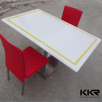 Anti-Dust restaurant dining tables and chairs /stone top dining tables
