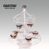 Powder coated carousel cupcake stand
