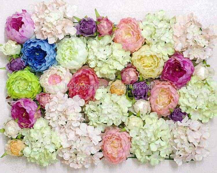 New arrival colorful silk large artificial flower heads wholesale beautiful flower arrangement with hydrange flower heads mightylinksfo